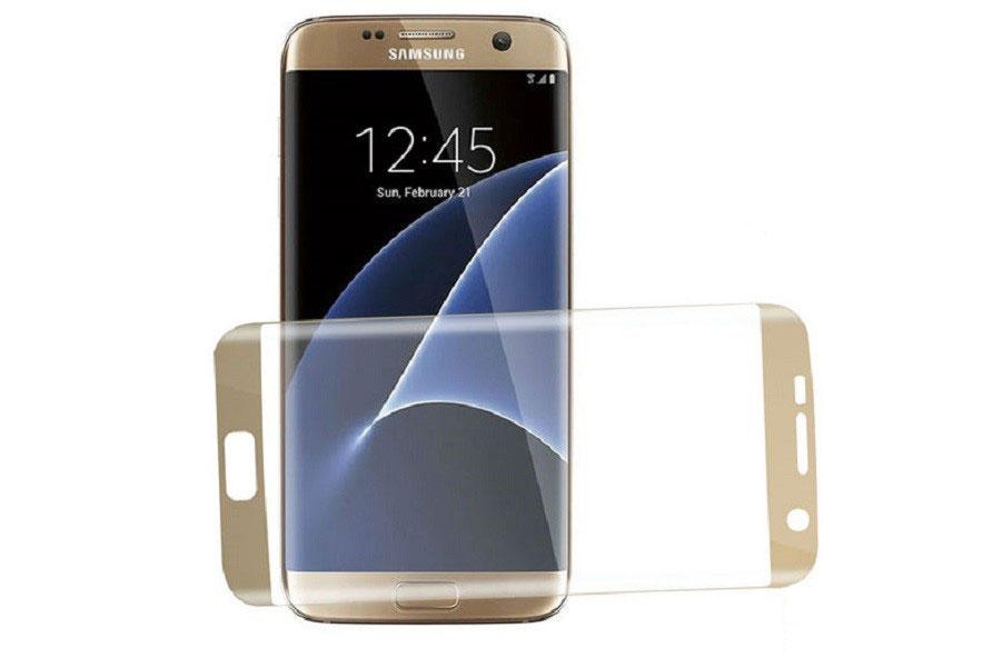 محافظ صفحه نمایش شیشه ای لبه خمیده مخصوص گوشی گلکسی S7 edge